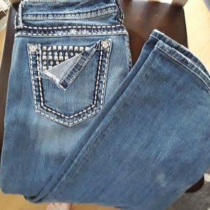 Miss Me Studded Pocket Boot Cut 30R